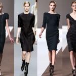 Черное платье актуально и в деловой сфере